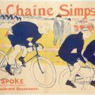 Affiche publicitaire en couleur pour les chaînes de vélo de la marque Simpson, réalisée par Henri de Toulouse-Lautrec en 1896
