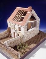 Maquette d'une maison de Cocherel