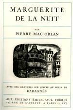 Marguerite de la Nuit, Couverture par Daragnès