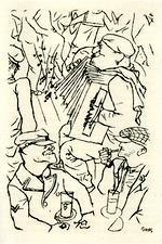 Illustration de Georges Grosz pour le livre Port d'Eaux-Mortes