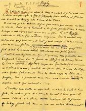 Manuscrit traitant du rugby par Pierre Mac Orlan