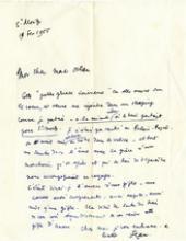 Lettre de Jean Cocteau à Pierre Mac Orlan