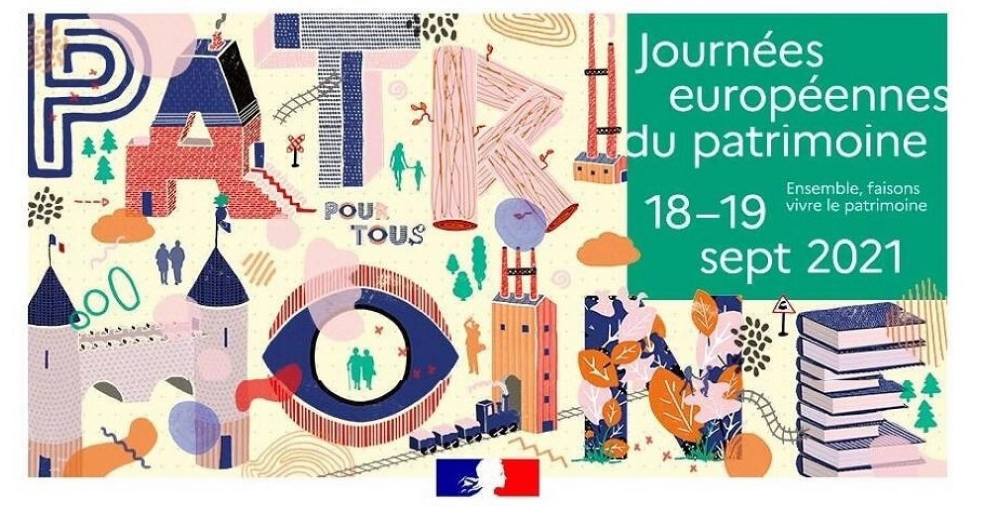 Affiche des Journées européennes du patrimoine 2021