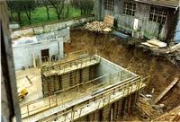 Le chantier du musée des Pays de Seine-et-Marne en 1994 Cliché Evelyne Baron/MDSM
