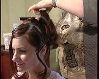 Essai de coiffure pour un mariage en 2005