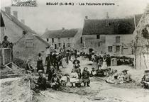 Les pelureurs d'osier à Bellot
