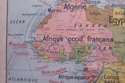 Carte de la France coloniale en Afrique du nord