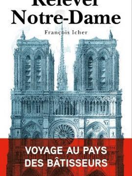 """Affiche pour la conférence """"Relever Notre-Dame, voyage au pays des bâtisseurs"""""""