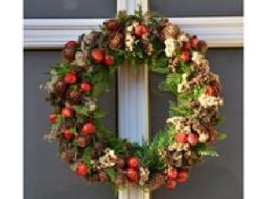 Fabrication de couronnes de Noël