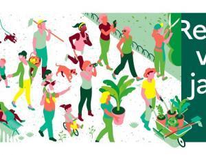 """affiche de la manifestation """"Rendez-vous aux jardins"""""""