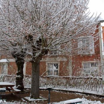 Le musée de la Seine-et-Marne sous la neige