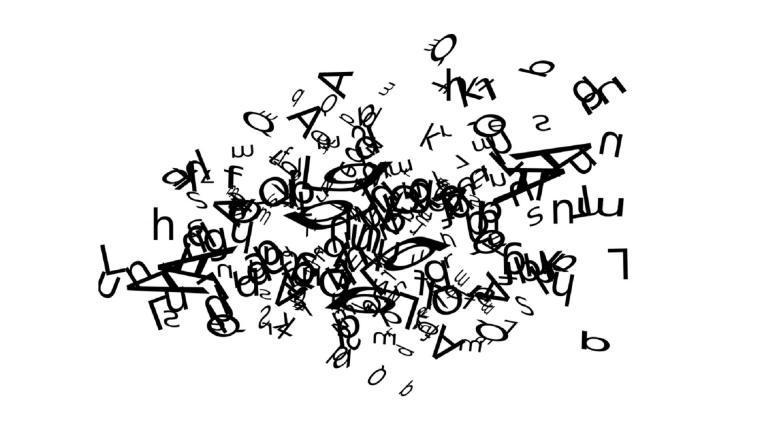 Visuel composé de lettres imbriquées