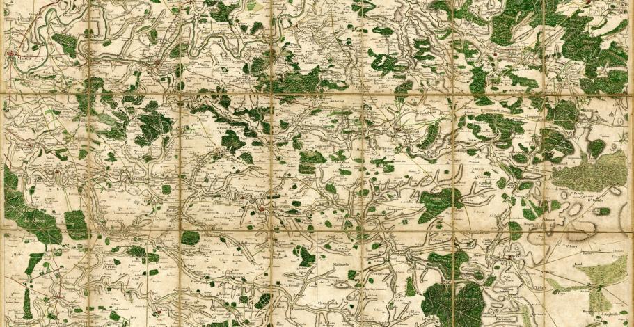 Carte géographique de Cassini pliable de la Brie (Région de Coulommiers, Le Ferté, Montmirail et Sézanne)